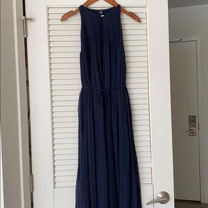 Tommy Hilfiger Collection Pleated Silk Maxi Dress